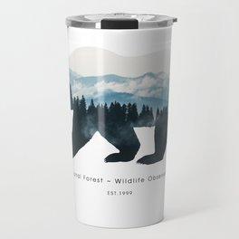 Landscape bear Travel Mug