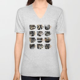 My Favorite Coffee Cups 2 Unisex V-Neck