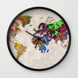 World Map 31 Wall Clock
