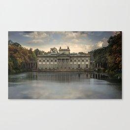 Royal Palace in Warsaw Baths Canvas Print