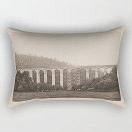 Aqueduc de Montreuillon - Les Travaux Publics de la France Rectangular Pillow