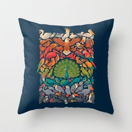 Aerial Spectrum : Blue Throw Pillow