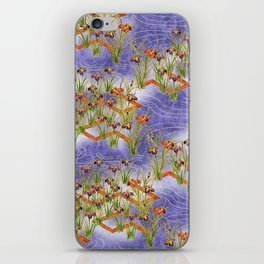 Vintage chinese floral pattern iPhone Skin