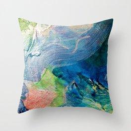 Green Dancing Leaves 2013 Throw Pillow