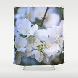 Hawthorne Flowers After Rain Shower Curtain