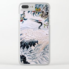 Flowers and Bird Clear iPhone Case