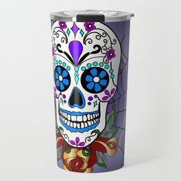 Rose, the Day of the Dead Skull  Travel Mug