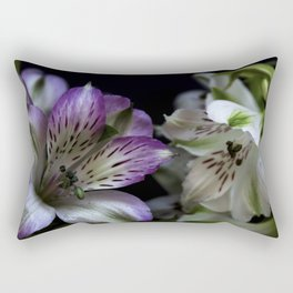 Floral bouquet. Purple and white flowers. Rectangular Pillow
