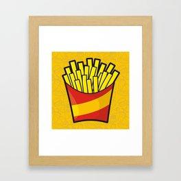 French Fries Framed Art Print