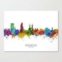 Winterthur Switzerland Skyline Canvas Print