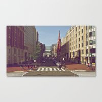 dc Canvas Prints featuring DC by Douglas Smith
