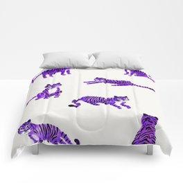 Purple Tigers Comforters
