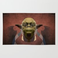 yoda Area & Throw Rugs featuring Yoda by lazylaves