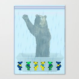 Dancing bears in the shower Canvas Print