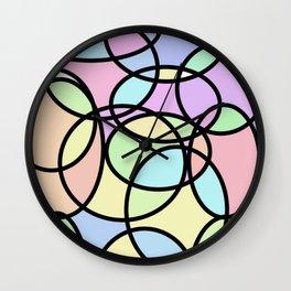 circle of life geometric print design Wall Clock