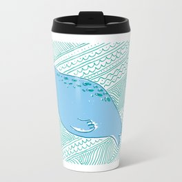 Manatees are Rotund Sea-Mammals Travel Mug