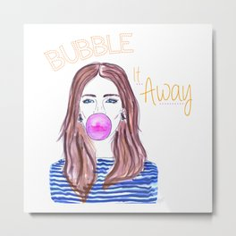 Bubble It Away Metal Print