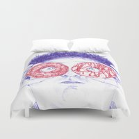 hero Duvet Covers featuring Hero by Bomburo