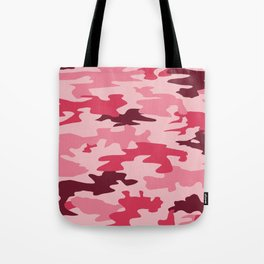 Camouflage Print Pattern - Pinks & Purples Tote Bag