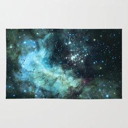 Teal Green Galaxy : Celestial Fireworks Rug