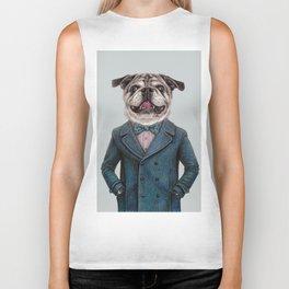 dog portrait Biker Tank