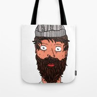 larry Tote Bags featuring Larry Lumberjack by ALFIE creative design