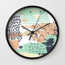 Liesel - Abstract, painterly, mark-making artist, colors cell phone case design Wall Clock