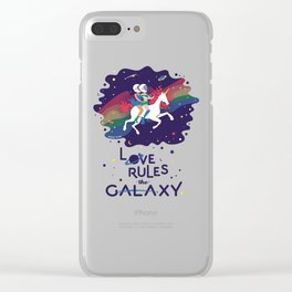 Love Rules the Galaxy Clear iPhone Case