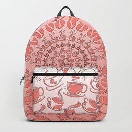 Living coral coffee mandala No1 Backpack