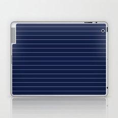Indigo Navy Blue Pinstripe Lines Laptop & iPad Skin