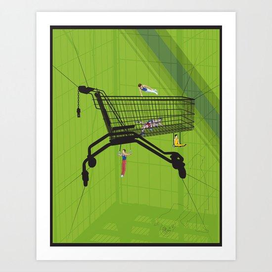 Trolley Gymnastics Art Print