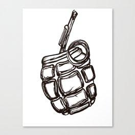 Mate infusion grenade Canvas Print