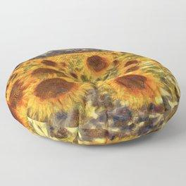 Sunflowers Vincent van Gogh Floor Pillow
