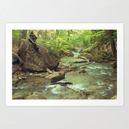Djur-Djur Waterfall IV Art Print