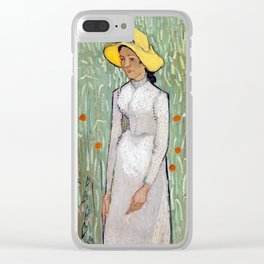Vincent van Gogh Girl in White Clear iPhone Case