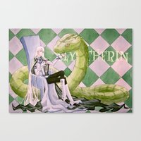 slytherin Canvas Prints featuring Slytherin by Ili Sn
