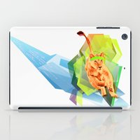 fitness iPad Cases featuring Lioness fitness by veronica ∨∧