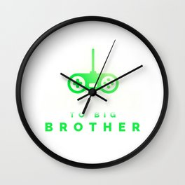 I Leveled Up to Big Bro 2020 Announcement Video Game Gift Wall Clock