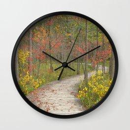 Winding Woods Walk Wall Clock