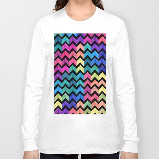 Watercolor Chevron Pattern VII Long Sleeve T-shirt