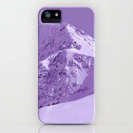Winter Mountains in Plum - Alaska iPhone Case