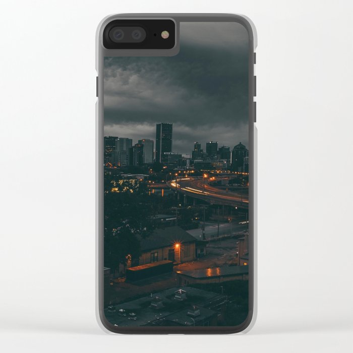 Night city Clear iPhone Case