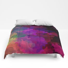 Multicolored abstract pattern . A firework of colors . Comforters