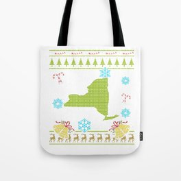 New York Christmas Ugly Shirt Tote Bag