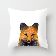 Merry Foxmas! Throw Pillow