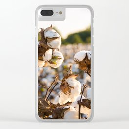Cotton Field 19 Clear iPhone Case