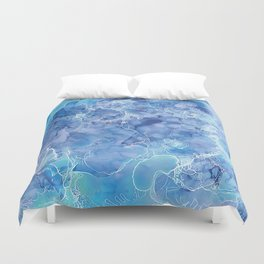 Ice Abstraction Duvet Cover