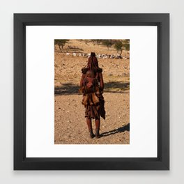 Himba Girl & Child Framed Art Print