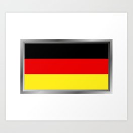 Germany flag Art Print