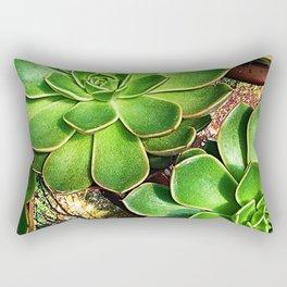 3 Succulents Rectangular Pillow